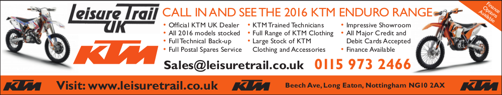 advertisement for Leisure Trail UK